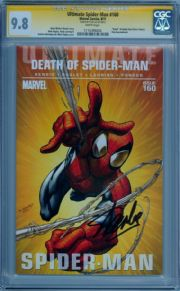 Ultimate Spider-man  #160 CGC 9.8 Signature Series Signed Stan Lee  Marvel Death comic